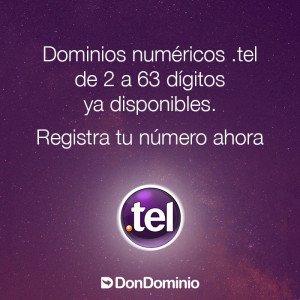 Dominios .tel numéricos ya disponibles