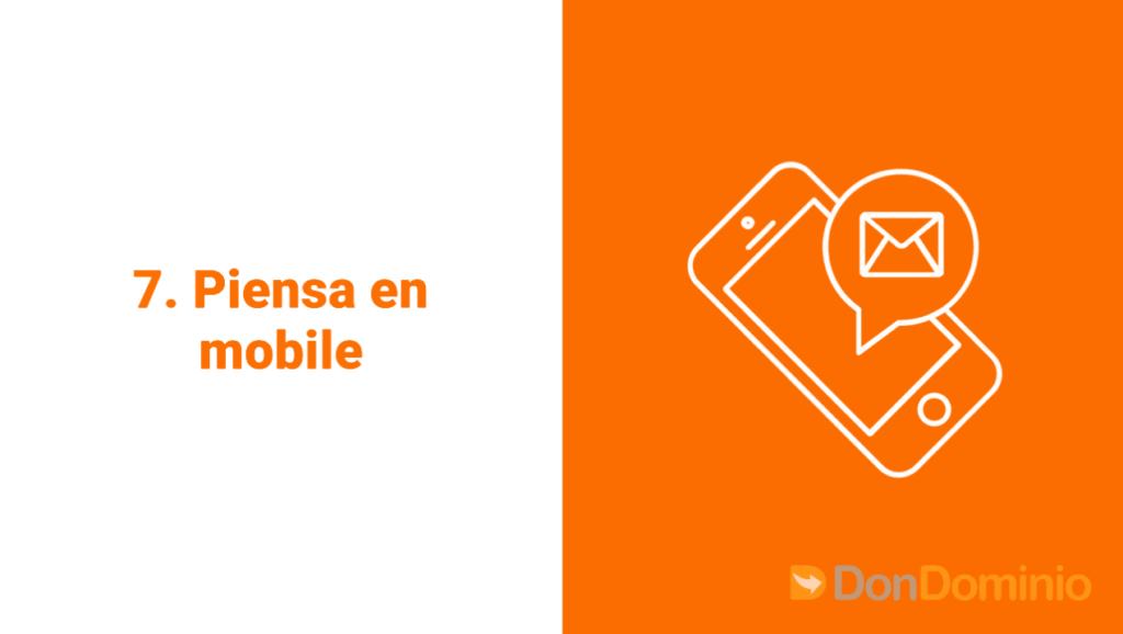 7. Piensa mobile